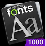 Creative Fonts 1000 Purple