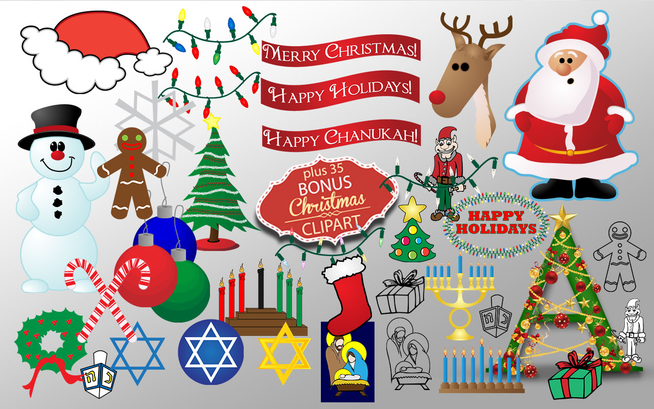 Creative Font - Christmas clipart sample 1