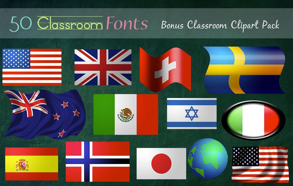 Creative Fonts - Classroom clipart sample 7