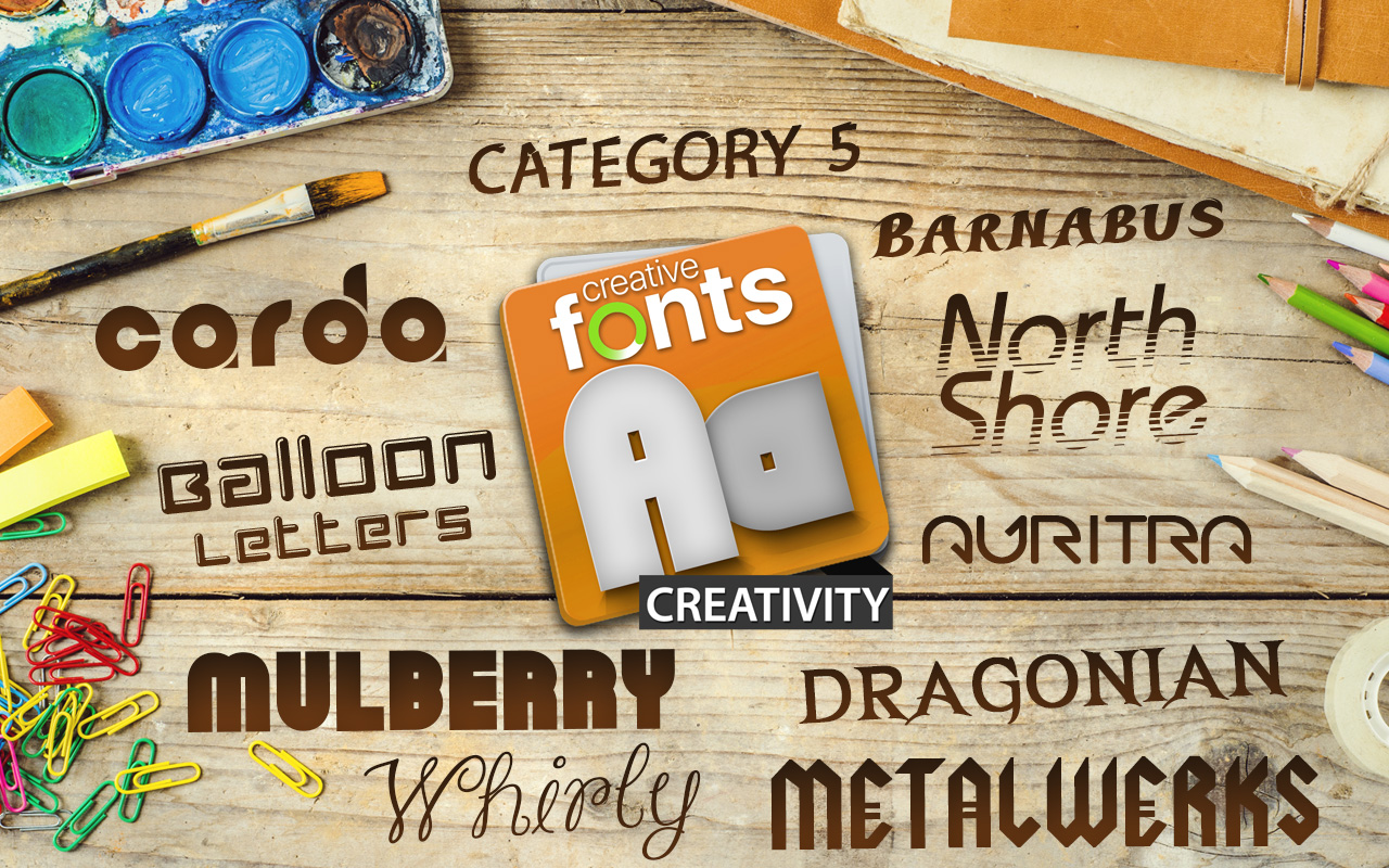 Creative Fonts - Creativity sample 1