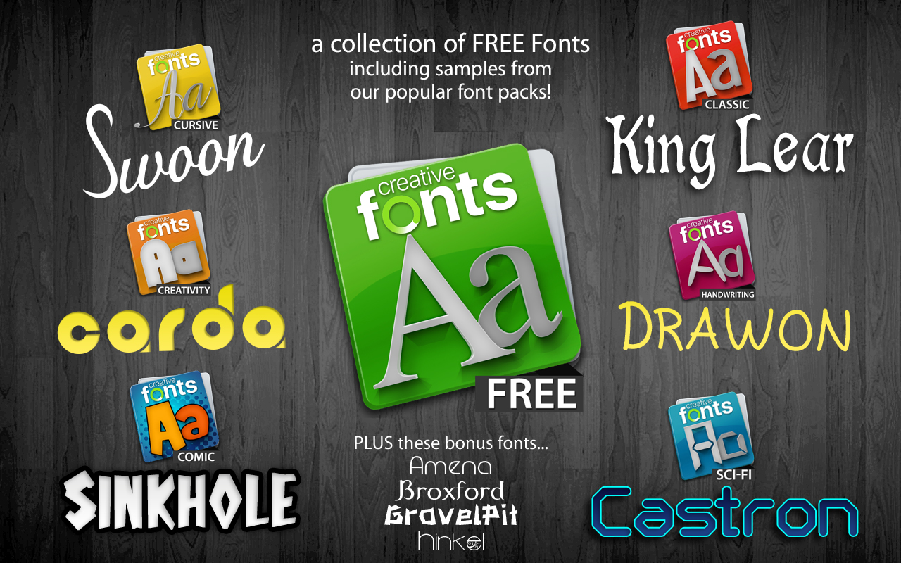 Creative Fonts - Free sample 1