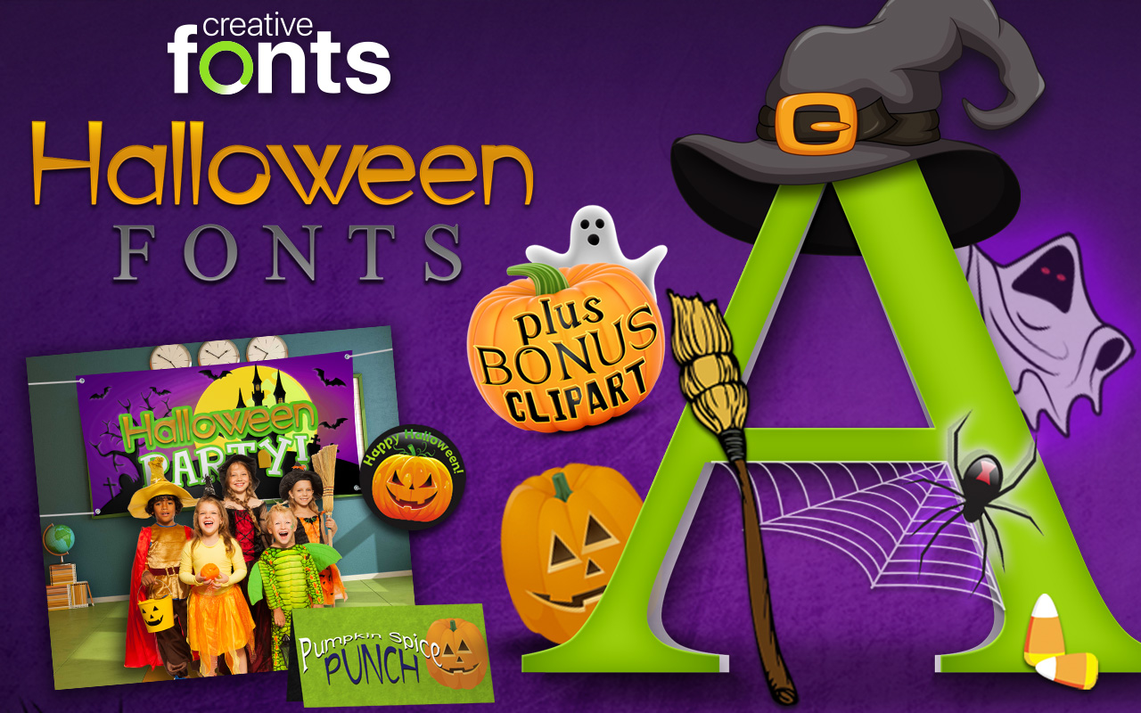 Creative Fonts - Halloween sample 1