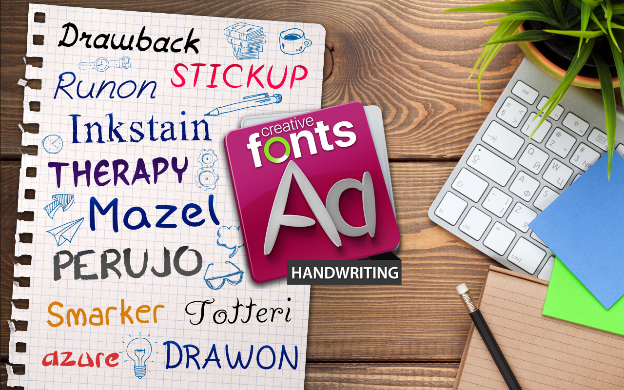 Creative Fonts - Handwriting samples 1