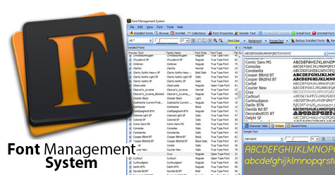 Font Management System - screen 1