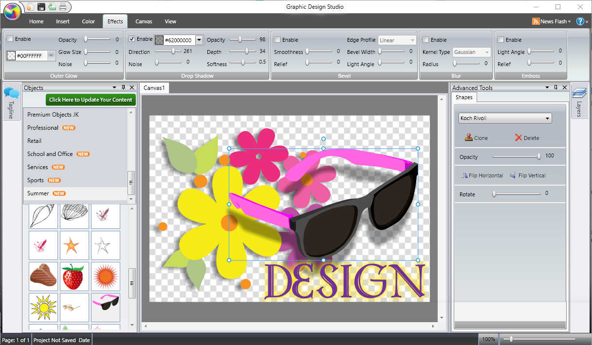 Graphic Design Studio - effects