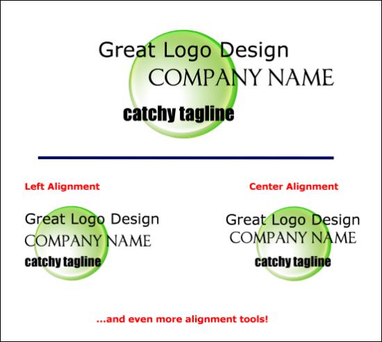 Logo Design Dictionary - Alignment