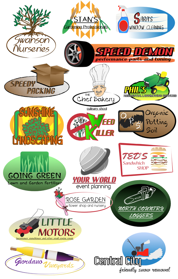 Samples Service Industry Logos