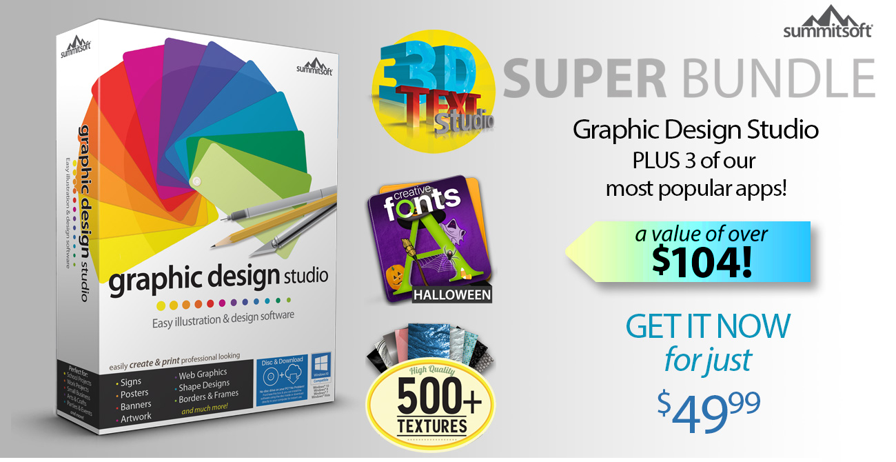 Graphic Design Studio Super Bundle 1 Selling Logo Software For Over 15 Years Summitsoft