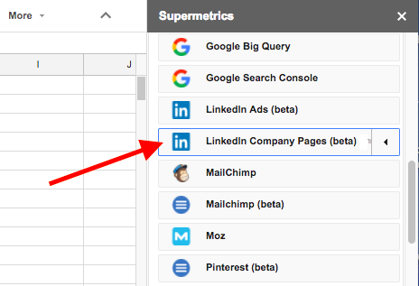 LinkedIn Ads historical data with Supermetrics for Google Sheets