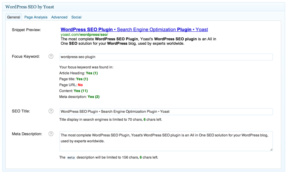 yoast seo plugin screenshot