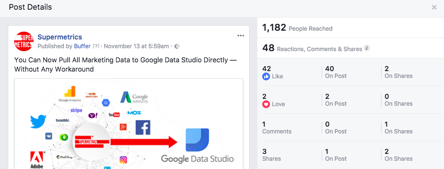 facebook insights reporting feedback