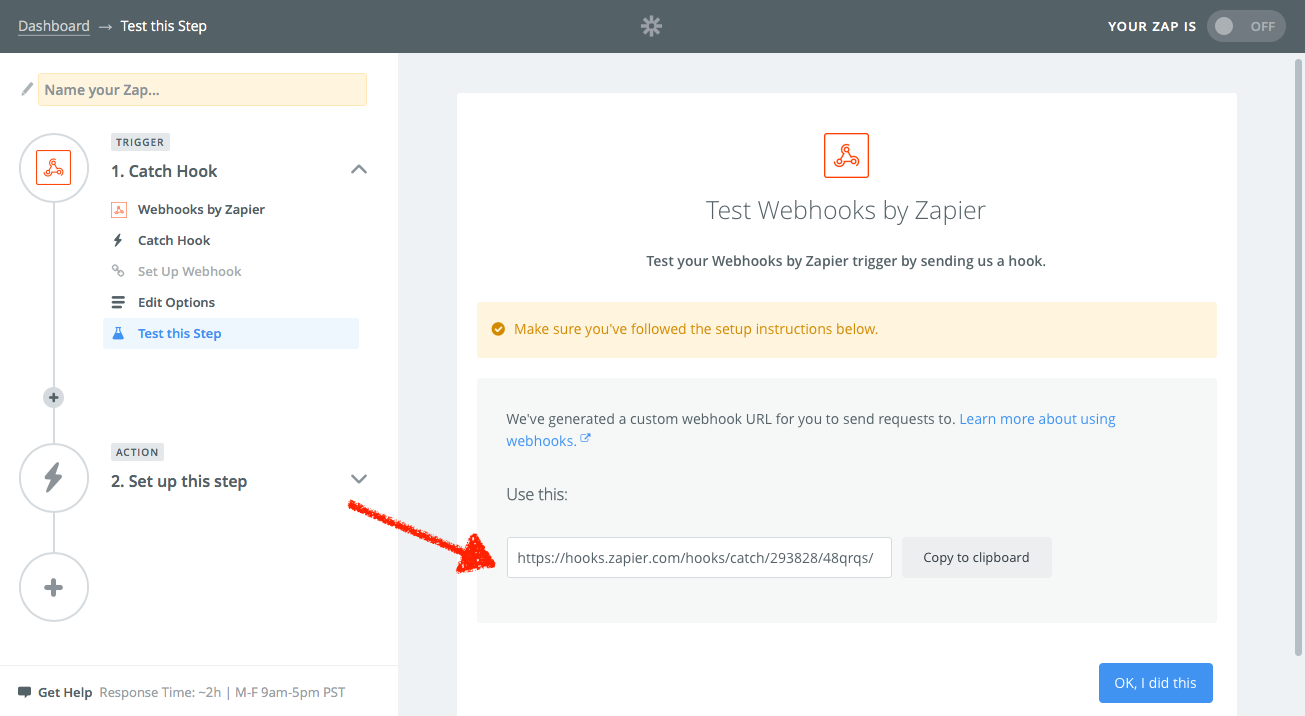 Webhooks by Zapier