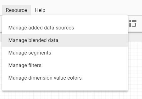 manage blended data
