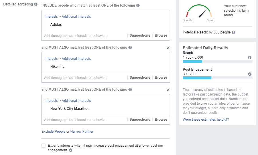 improving targeting on Facebook Ads