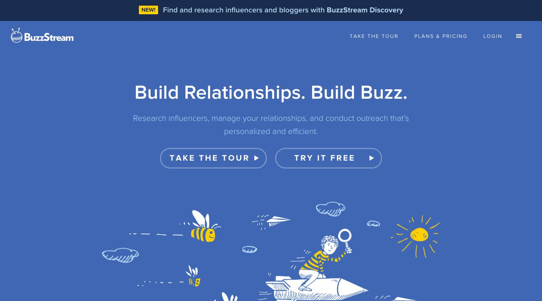 Buzzstream page