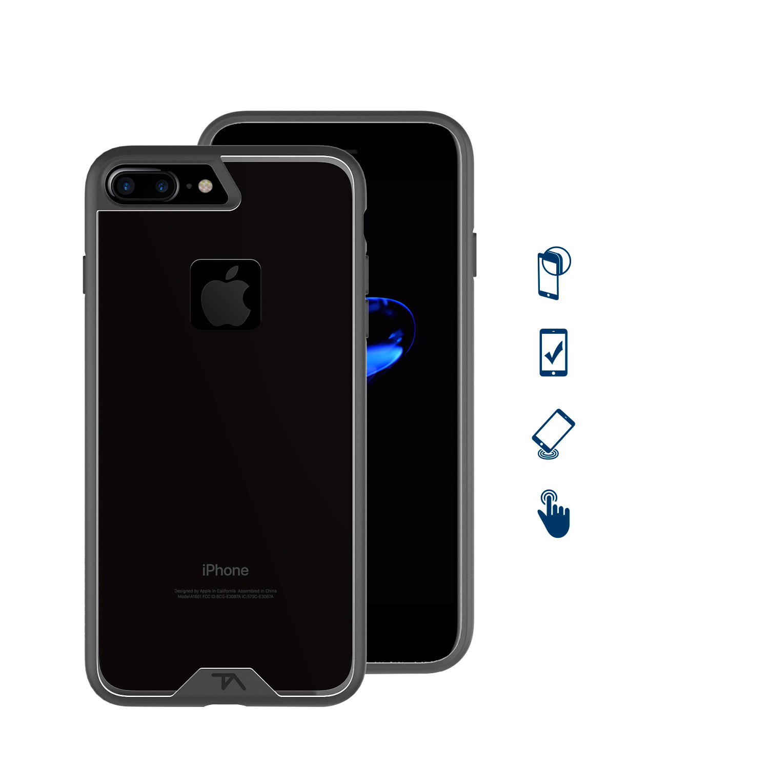 timeless design 716f4 a511c Details about Tech Armor FlexProtect Case for iPhone 7 Plus / 8 Plus (5.5