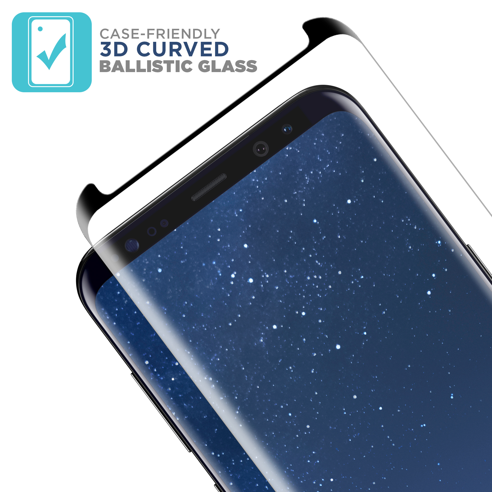 Tech Armor 3d Edge Glass Screen Protector Black1 Pack For Tempered Premium Samsung Note 8 Case Friendly Good Touchscreen Clear Bening Galaxy S8 From Curved Ballistic Black 1