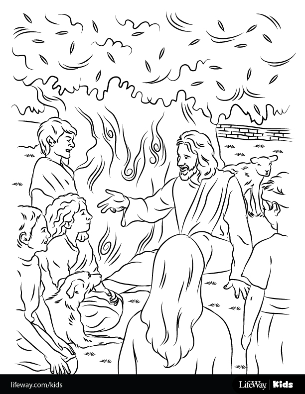 free coloring sheet jesus loved the children - Jesus Children Coloring Pages