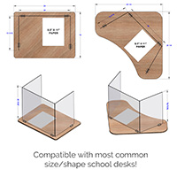 Folding Desktop Shield Fits Most Desks