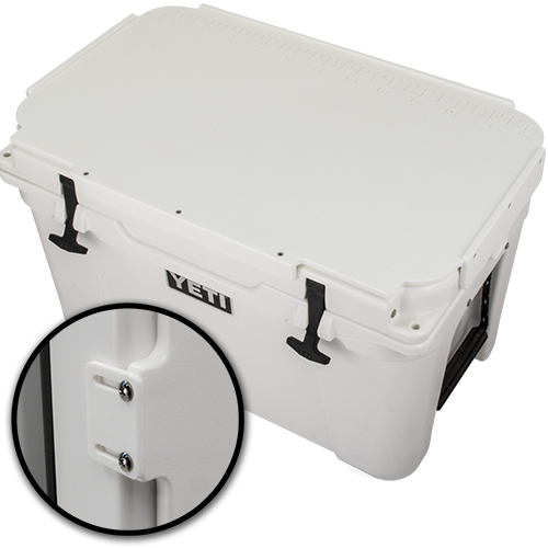Yeti cooler-top cutting board