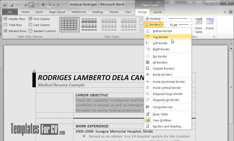 how to add extra cells to a table in word