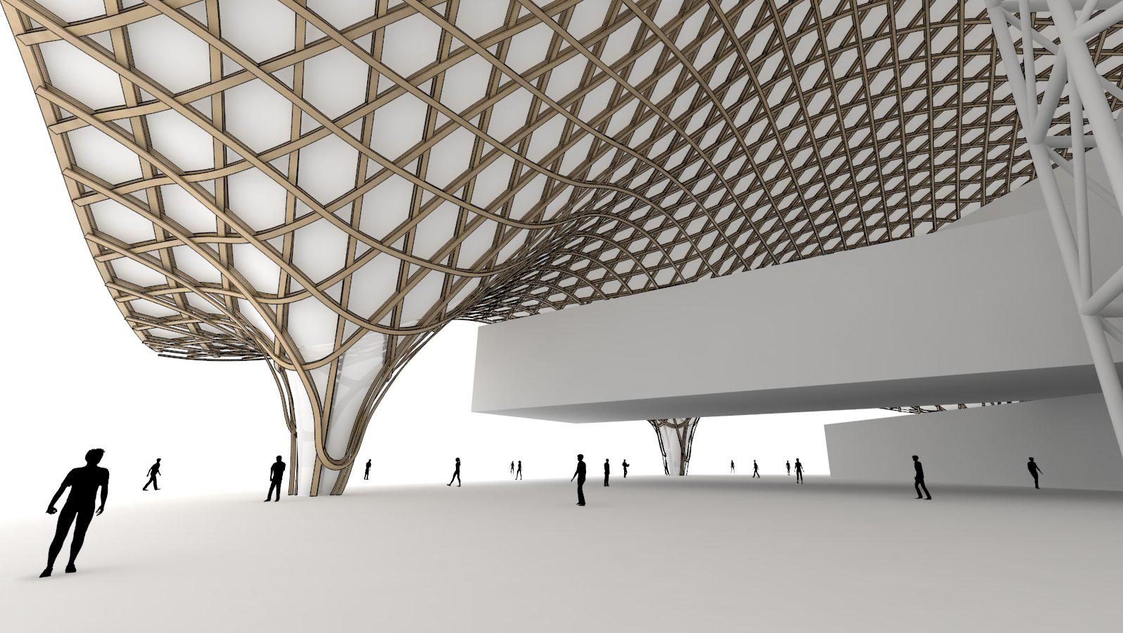 Learn how to create an organic roof structure centre for T spline architecture