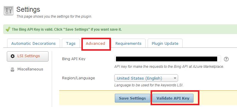 Bing Search API Key