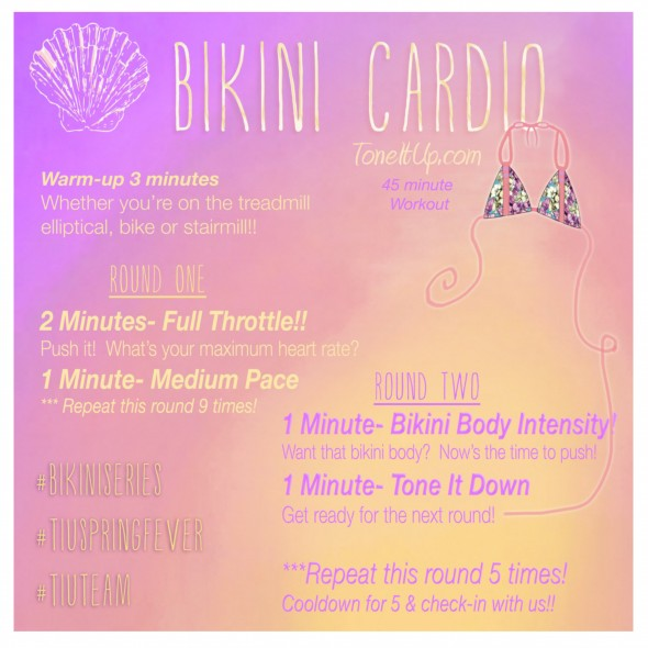 Printable Cardio Workouts: Tone It Up Nutrition Plans!