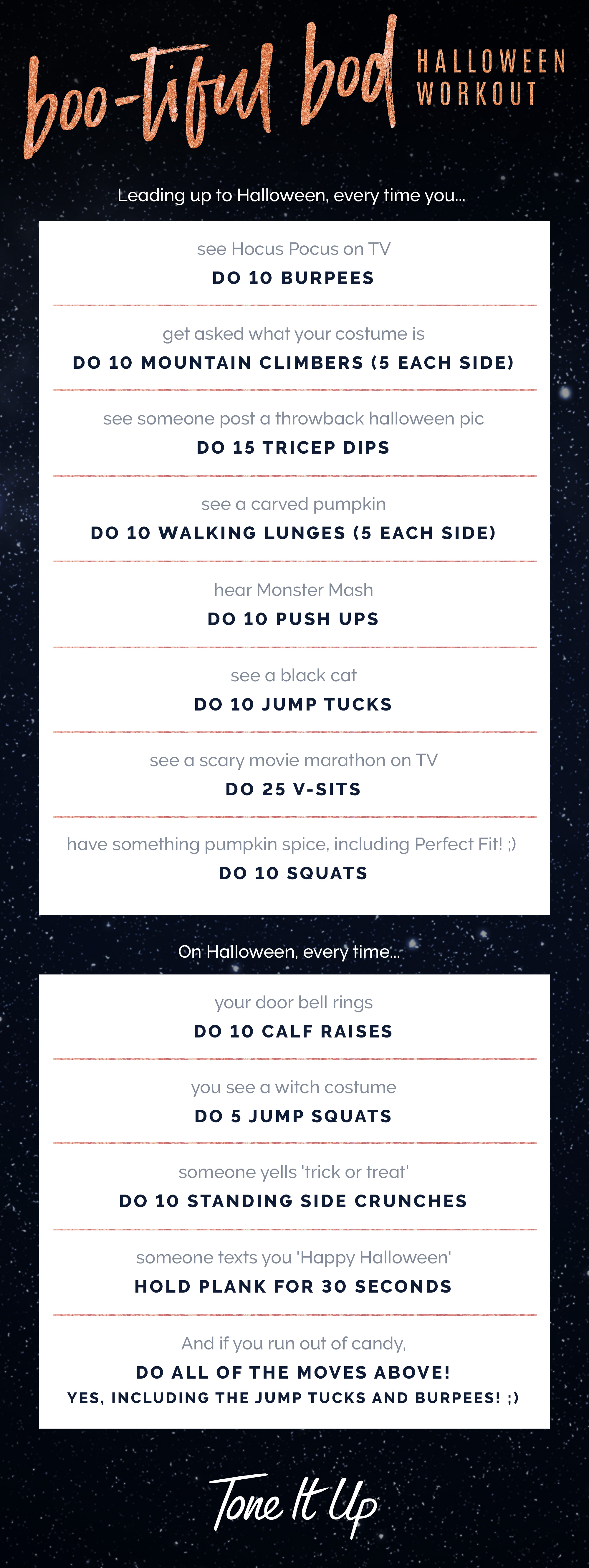 Tone It Up BOO-tiful Bod Halloween Workout Printable