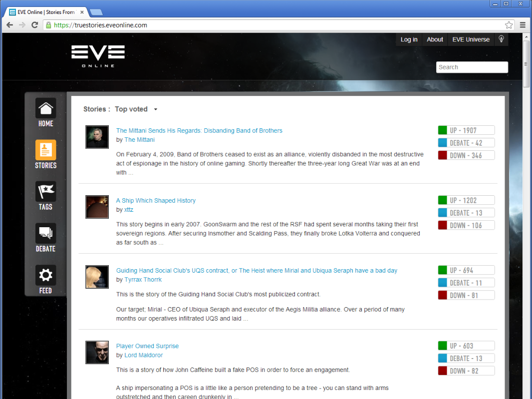 EVE Online True Stories