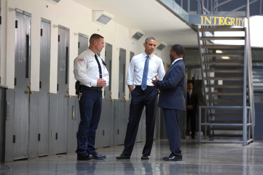 Today, President Obama became the first sitting President to visit a federal prison, where he heard firsthand from guards and prisoners and discussed ways we can make our criminal justice system more just and more fair