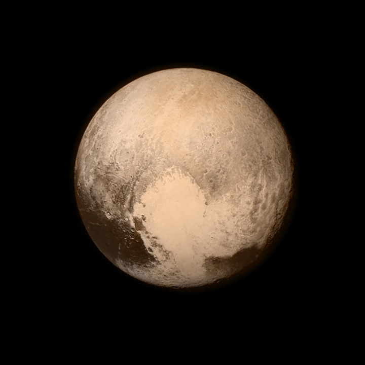 America is the first country to reach Pluto, and this is the closest image we've ever seen It took a decade to fly our New Horizons spacecraft through the solar system to send back this love note from the dwarf planet