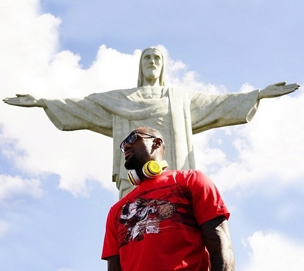 LeBron James in Rio de Janeiro