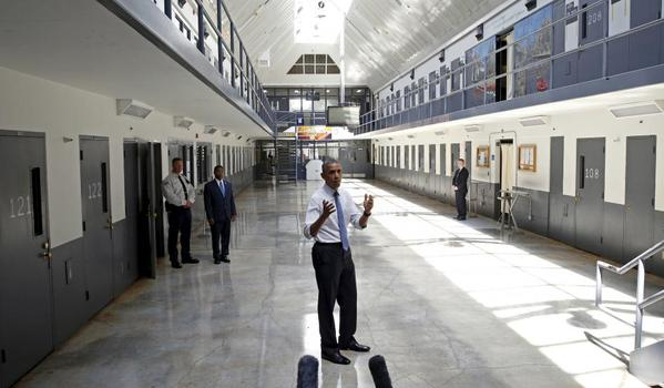 Obama became the first sitting president to visit a federal prison