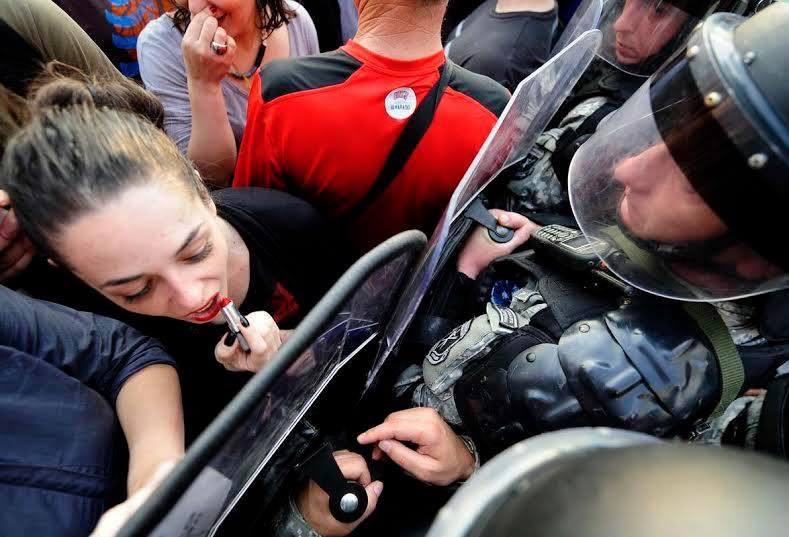 Powerful photo taken during the protests in Macedonia