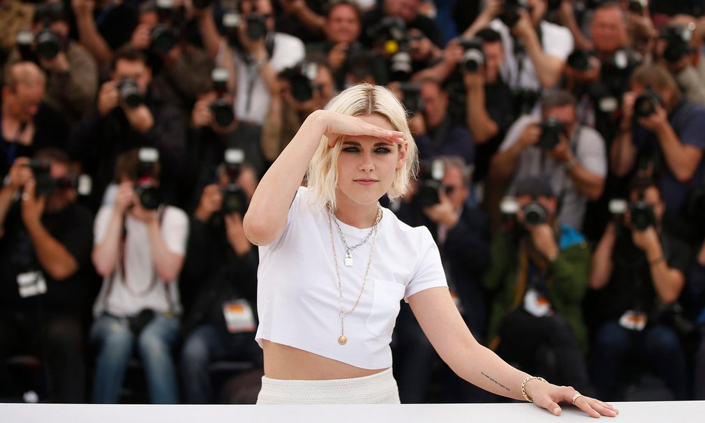 Kristen Stewart poses during the photocall for Cafe Society at the Cannes film festival Follow our Cannes coverage Photograph: Guillaume HorcajueloEPA