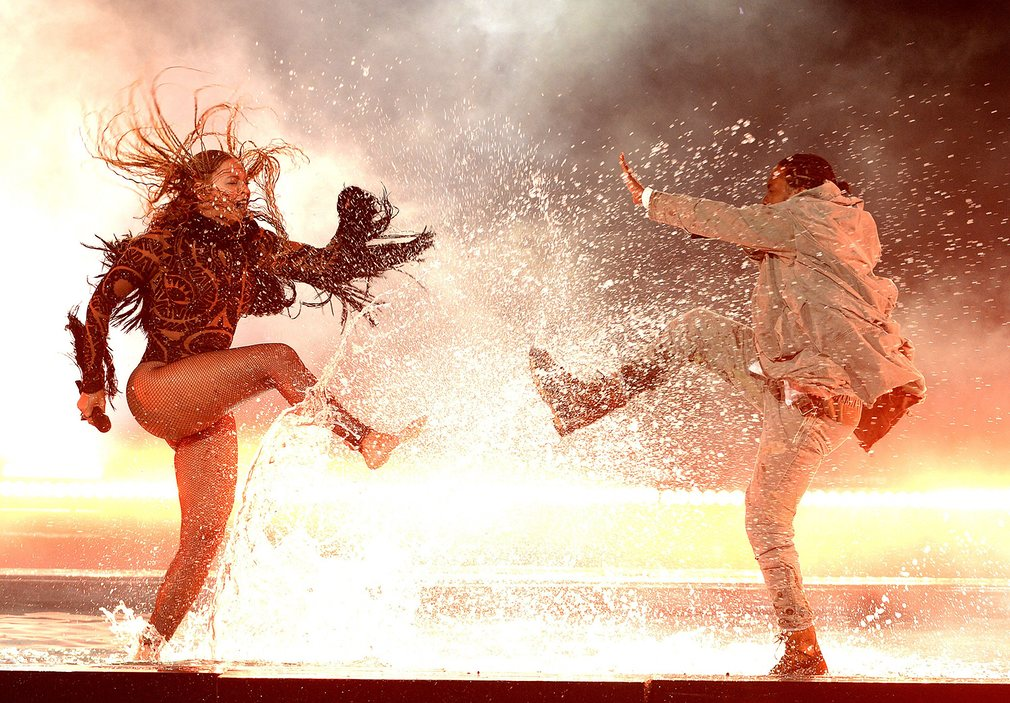 Beyoncé Knowles and Kendrick Lamar perform onstage at the 2016 BET awards Photograph: Frank MicelottaRexShutterstock