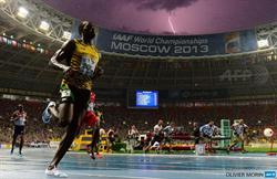 Jamaica's Usain Bolt wins the 100m final at the 2013 IAAF World Championships in Moscow