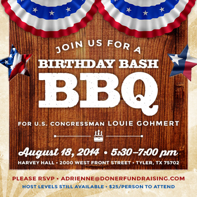 Louie Gohmert Invitation