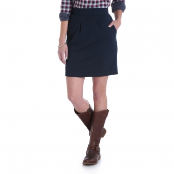 140BD41 - Pull On Pleat Front Skirt