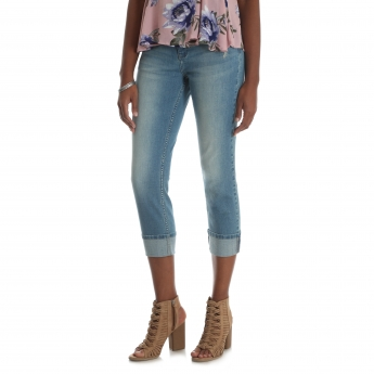 1IRMAV5 - Modern Midrise Large Cuff Straight Leg Crop