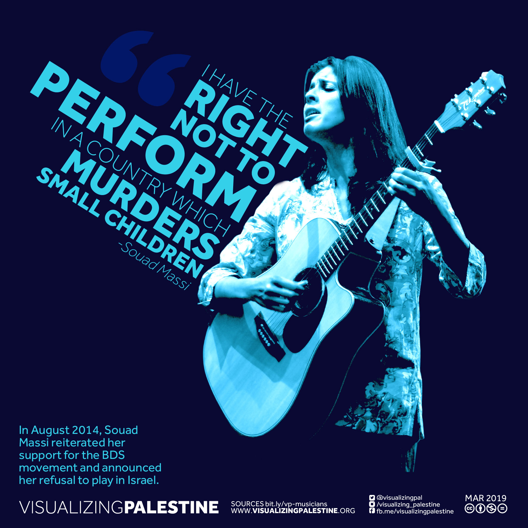 Musicians for Palestine - Souad Massi