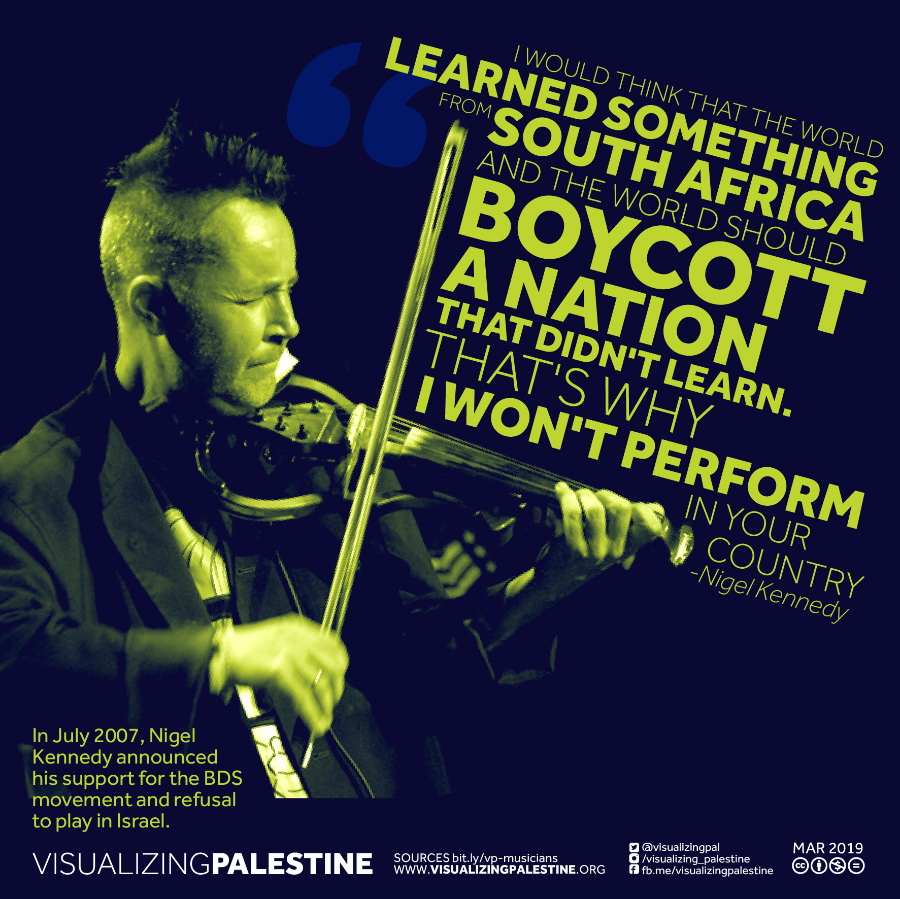 Musicians for Palestine - Nigel Kennedy
