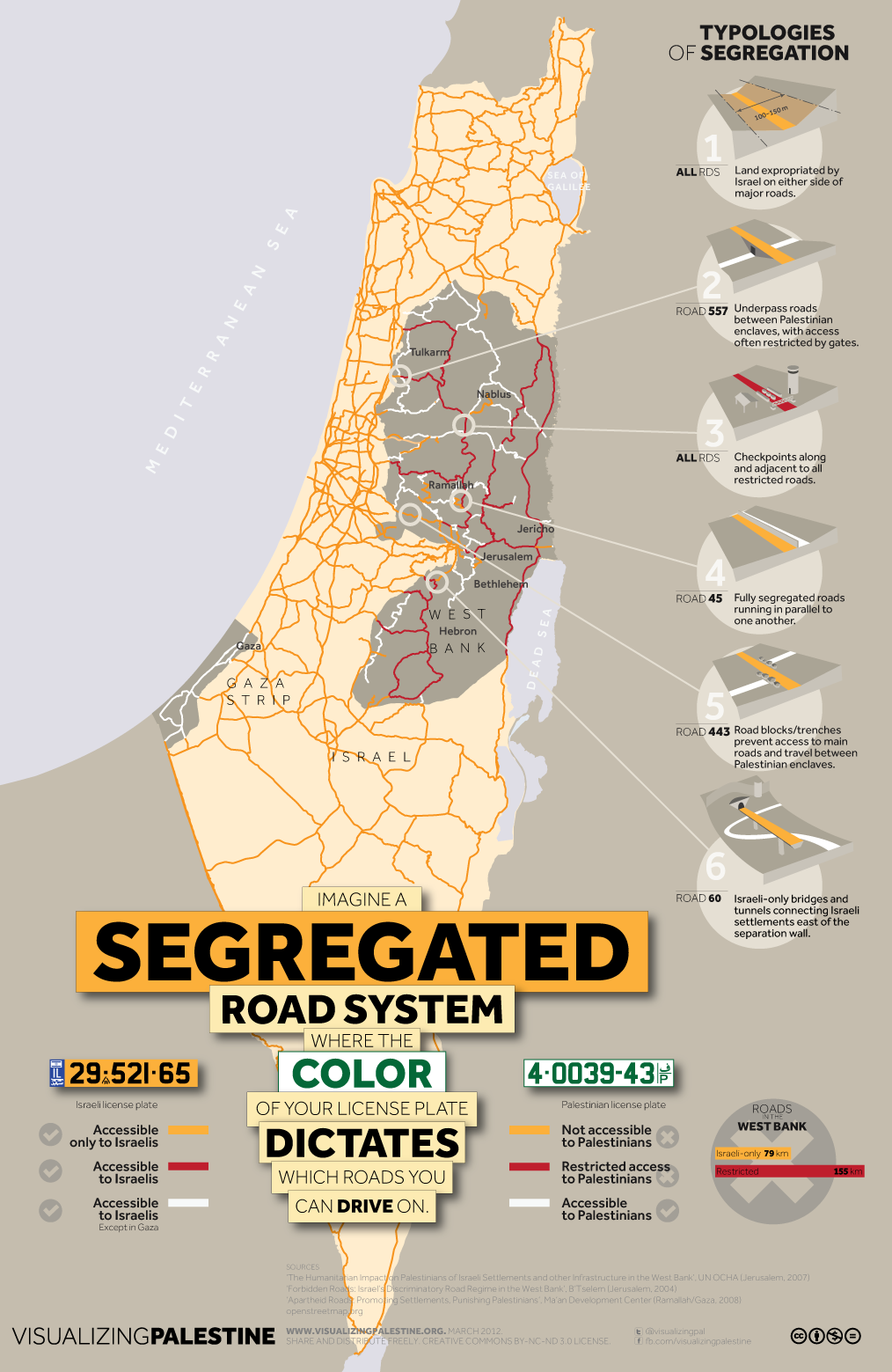 Israels System Of Segregated Roads In The Occupied Palestinian - Map of israel