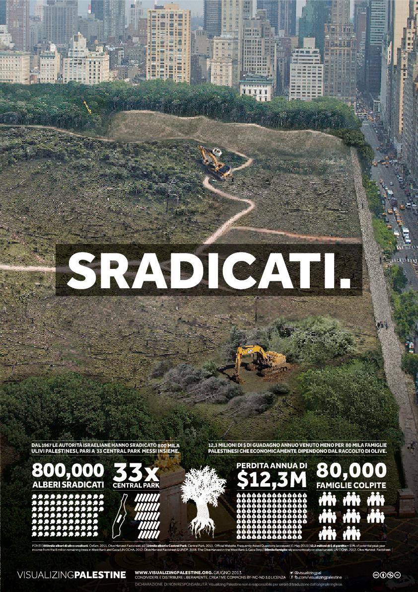800.000 Olive alberi sradicati, 33 Parchi Central