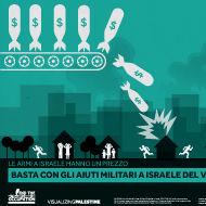 BASTA CON GLI AIUTI MILITARI A ISRAELE DEL VALORE DI 30 MILIARDI DI $