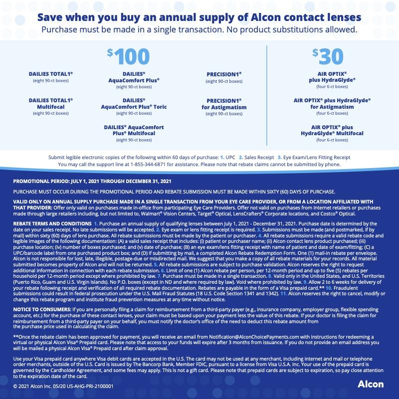 Alcon Promotion Details