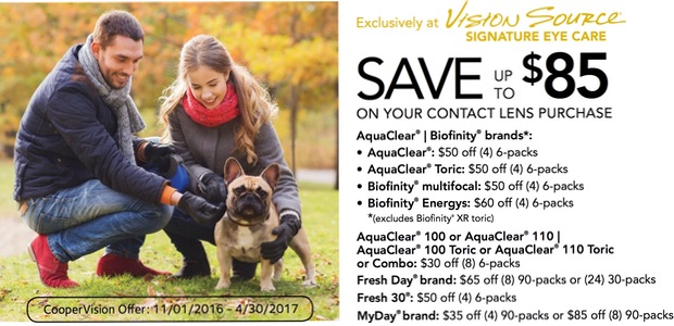 Save up to $85 on your contact lens purchase