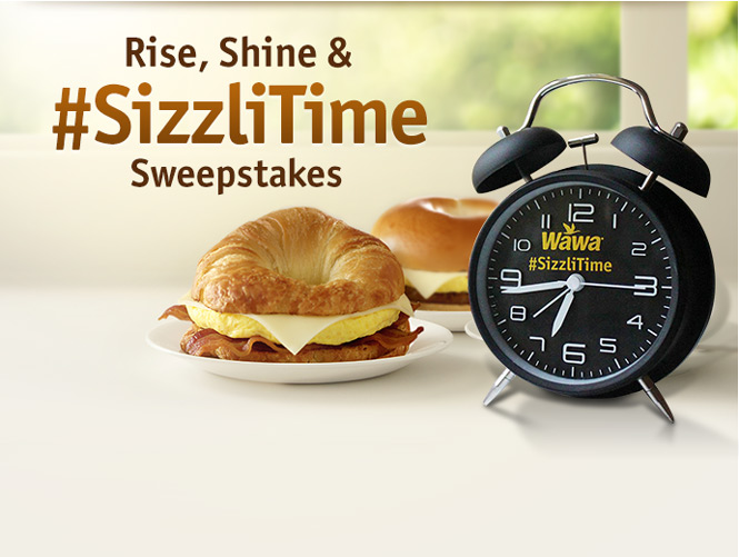 Rise & Shine #SizzliTime sweepstakes
