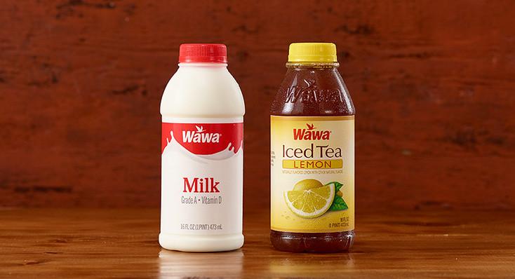 Any Wawa Tea, 100% Juice, Fruit Drink or Milk Pints $1 each *Excludes Wawa Egg Nog, Half & Half & Wawa Cappuccinos